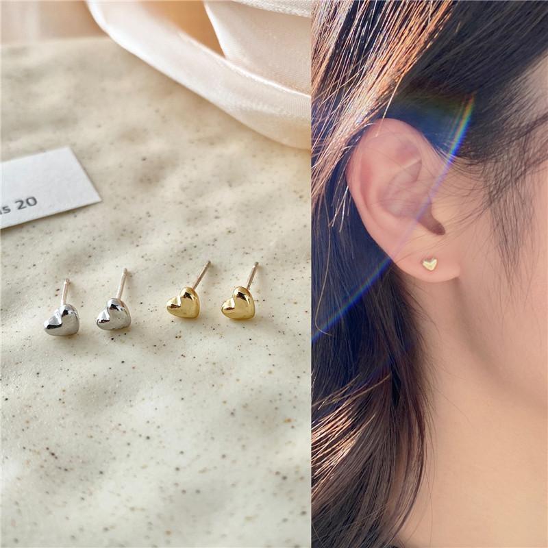 Simple Small Heart Earrings for Everyday Wear