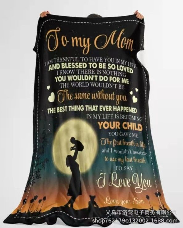 Lovely Printed Statement Blanket for Mother's Day Gift