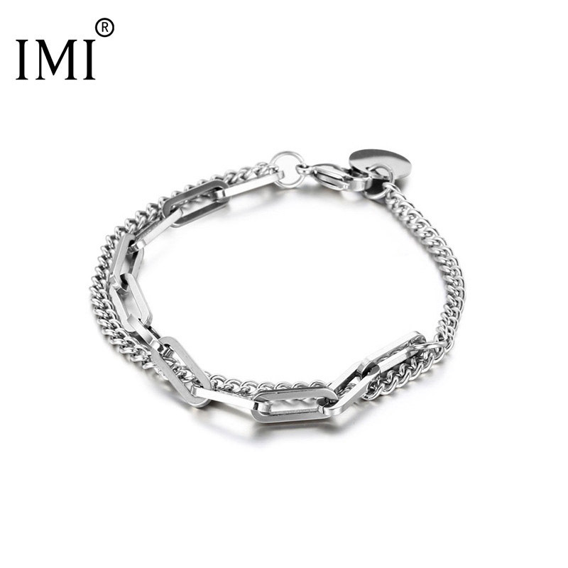 Graceful Double-Layered Bracelet for Supplementing Formal Fashion