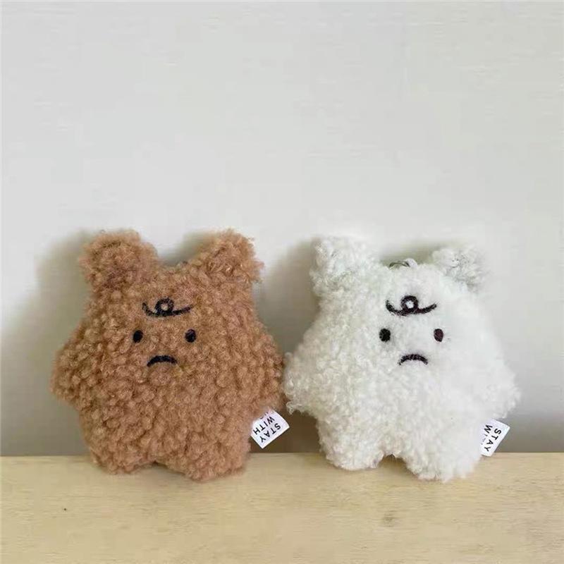 Cute Bear Plush Keychain for Stylish Car Users