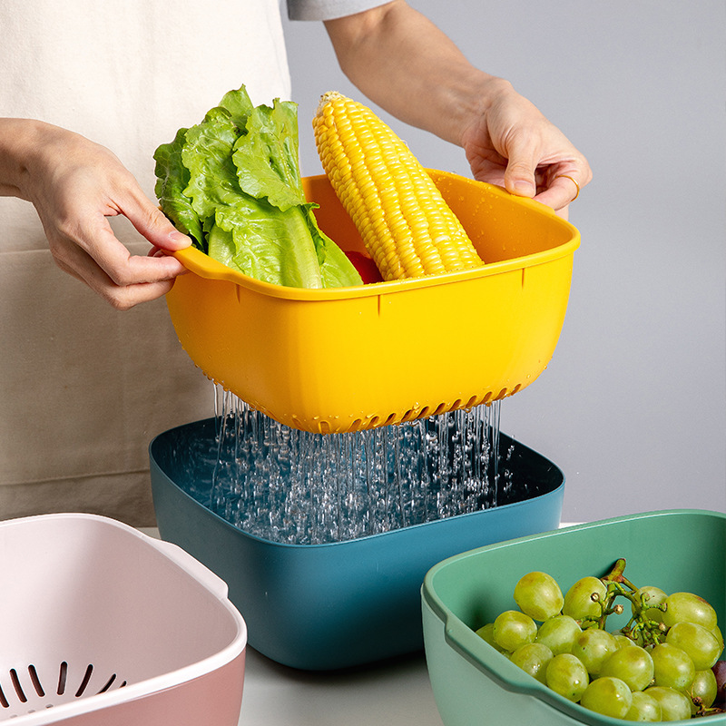Classic Double-Layer Basket for Fruit and Vegetable