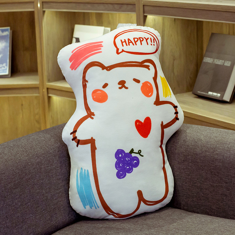 Cute Cartoon Design Pillows for Valentine's Day Gift