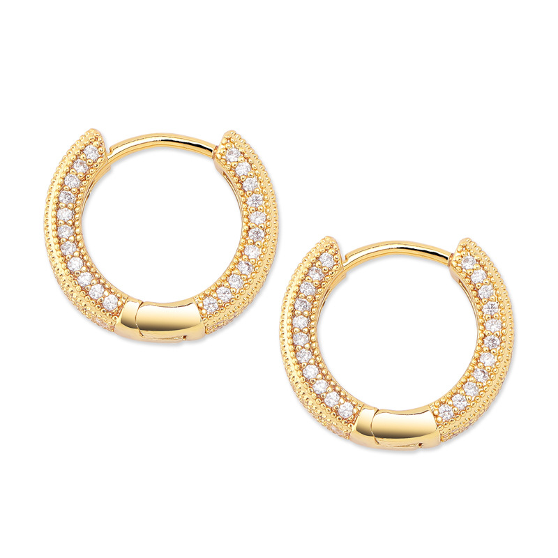 Small and Simple Copper Hoop Earrings for Unsiex Casual Fashion