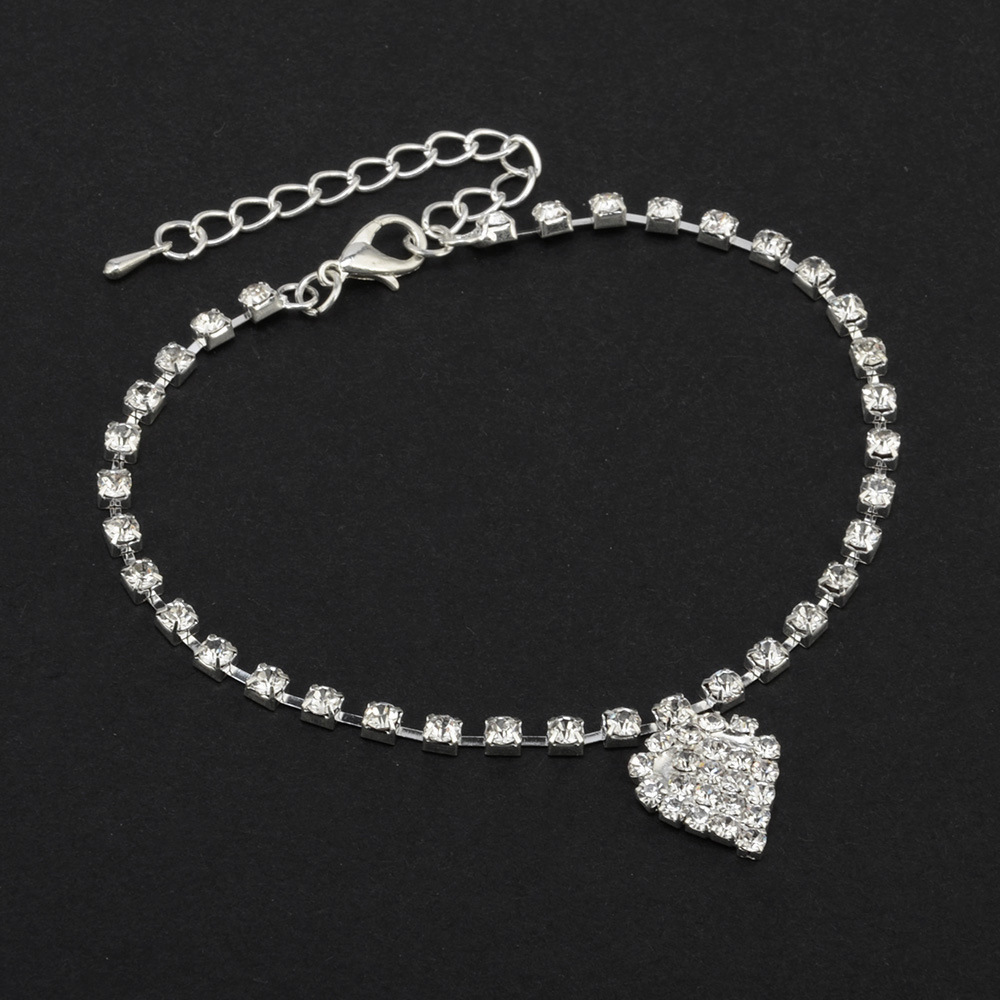 Dazzling Alloy Anklet with Pendant for Casual Day