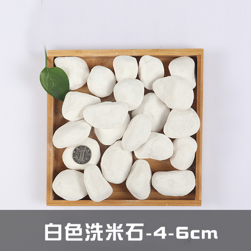 Basic White Stones for Potted Plants and Aquariums