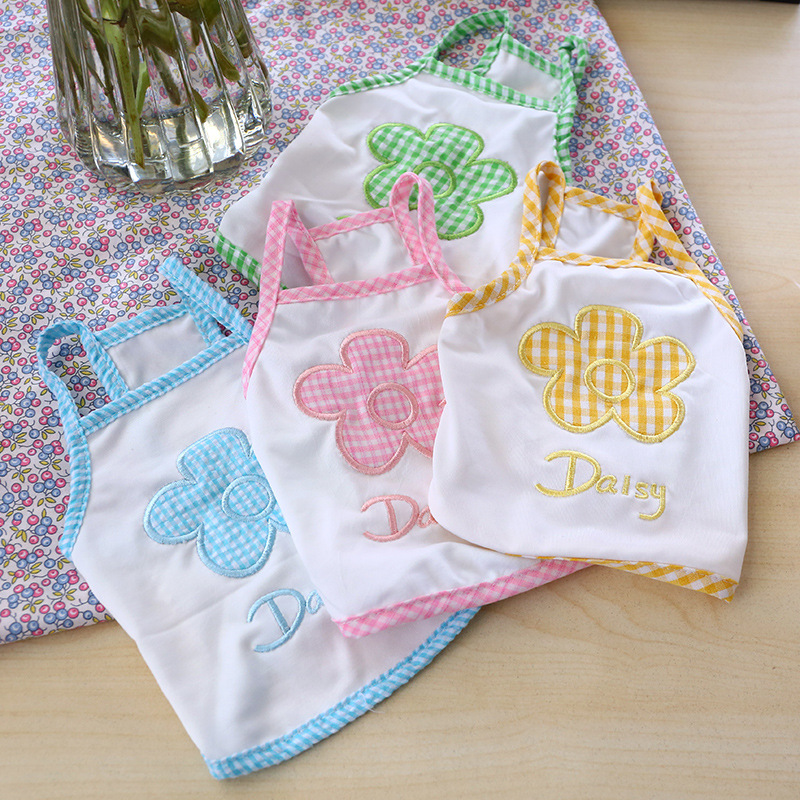 Cute Dog Tee with Flower Print for Daily Wear