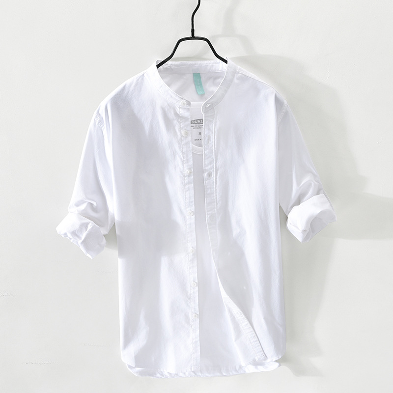Comfortable Long Sleeves Stand Collar Shirt for Everyday Wear