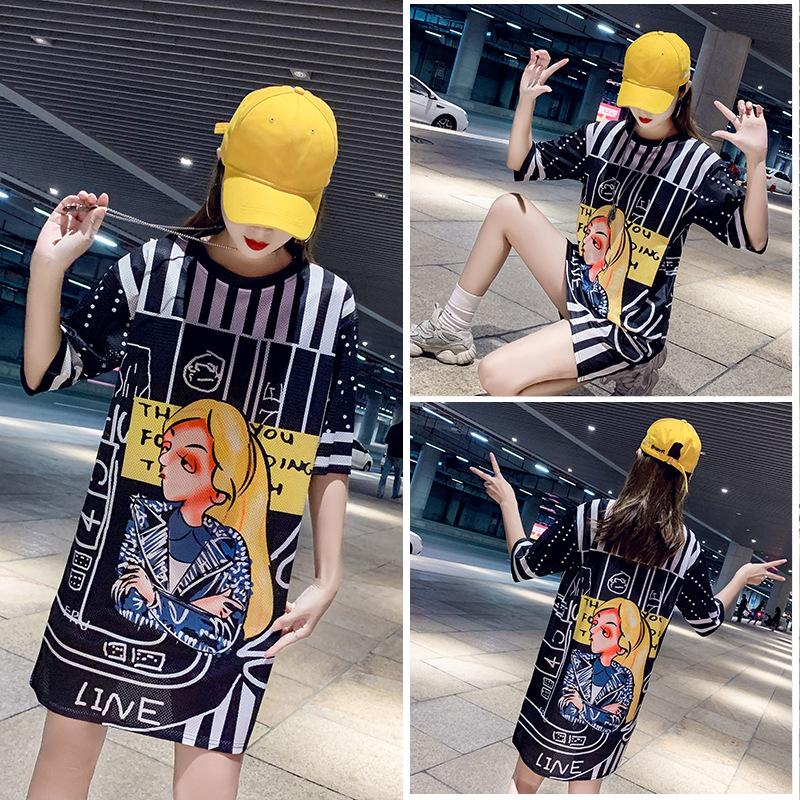 Trendy Graphic Design Shirt Dress for Modish Streetwear Fashion