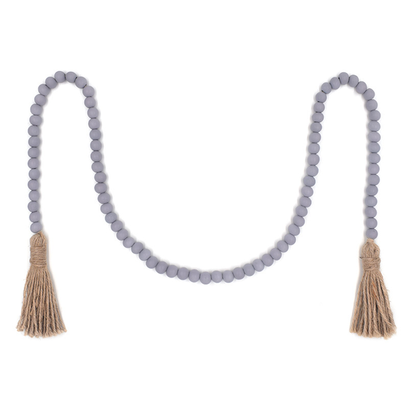 Old-Style Beaded Woven Tassel Rope Decorations for Home