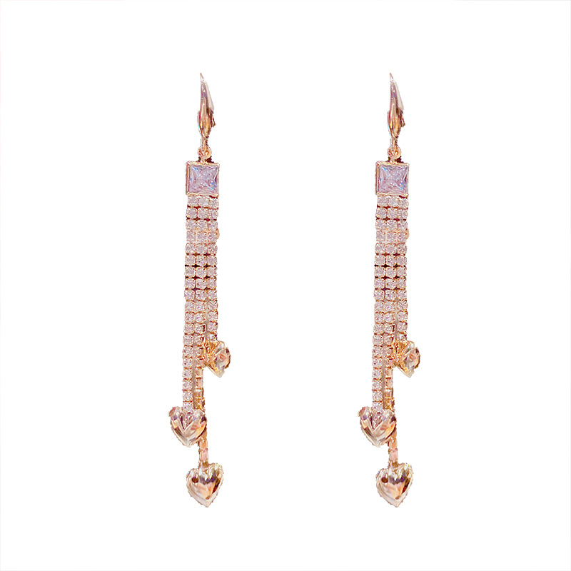 Luxurious Faux Diamond Tassel Earrings for Fancy Dinner Dates
