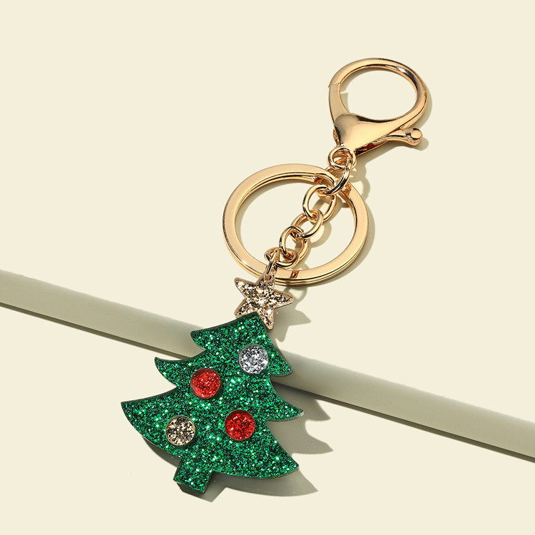 Decorative Christmas Series Keychain for Holiday Giveaways