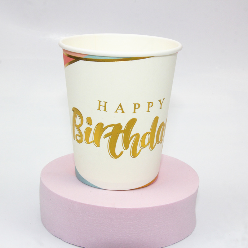 Fun and Colorful Printed Paper Cups for Birthday Parties