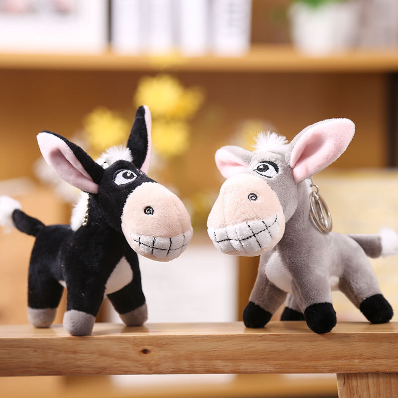 Hilarious Little Donkey Plush Toy Keychain for Adorable Bag Decorations