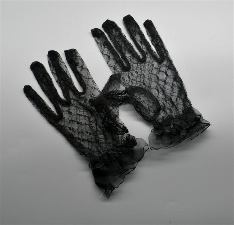 Exquisite Lace Gloves for Attending Masquerade Balls