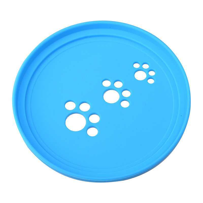 Bite-Resistant Round Silicone Frisbee for Pet Entertainment Supplies