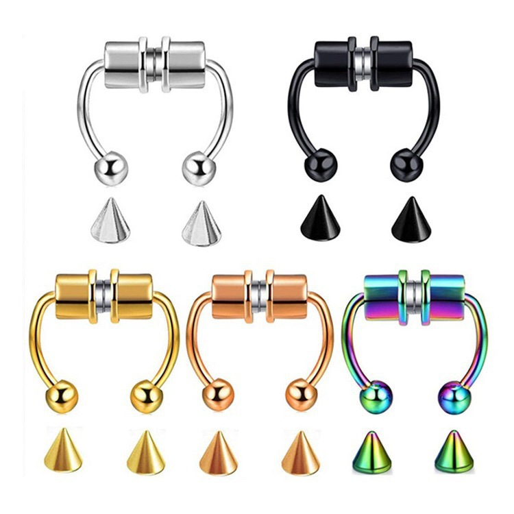 Decorative Magnetic Stainless Steel Nose Ring for Illusion Nose Piercing