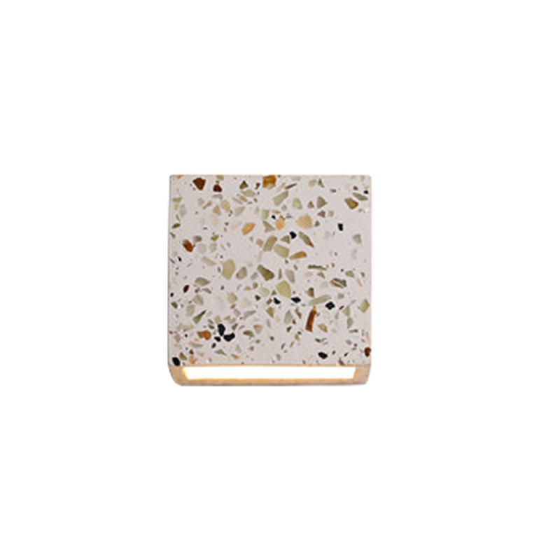 Elegant Terrazzo Square Wall Lamp for Luxe Homes
