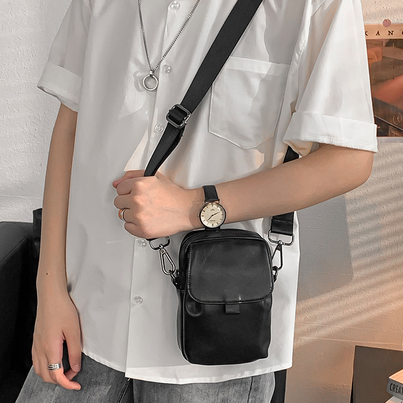 Plain and Classy Messenger Cellphone Bag for Men's Daily Errands