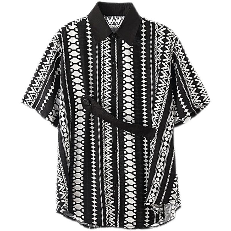 Cool Aztec Pattern Oversized Shirt for Unique Street Style