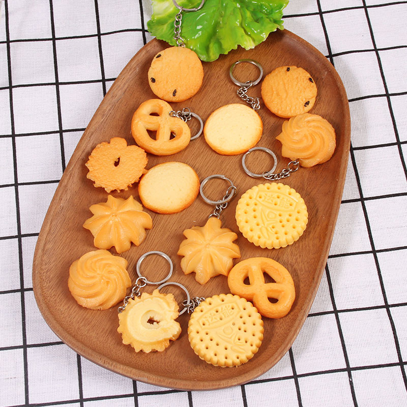 Eccentric Cookie Keychain Pendant for Keys