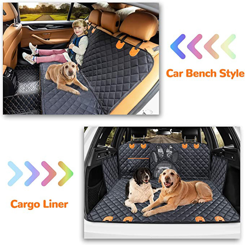 Functional Oxford Cloth Pet Mat for Car's Rear Seat