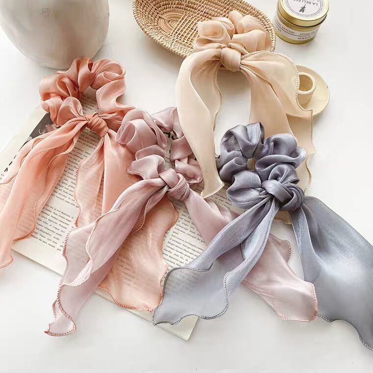 Shimmer Knot Scrunchies for Hair Accessories