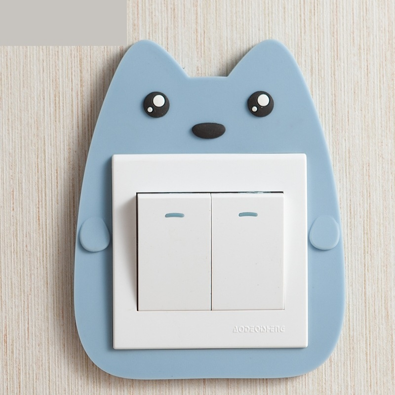 Cute Wall-Mounted Cartoon Switch Sticker for Bedroom Designs