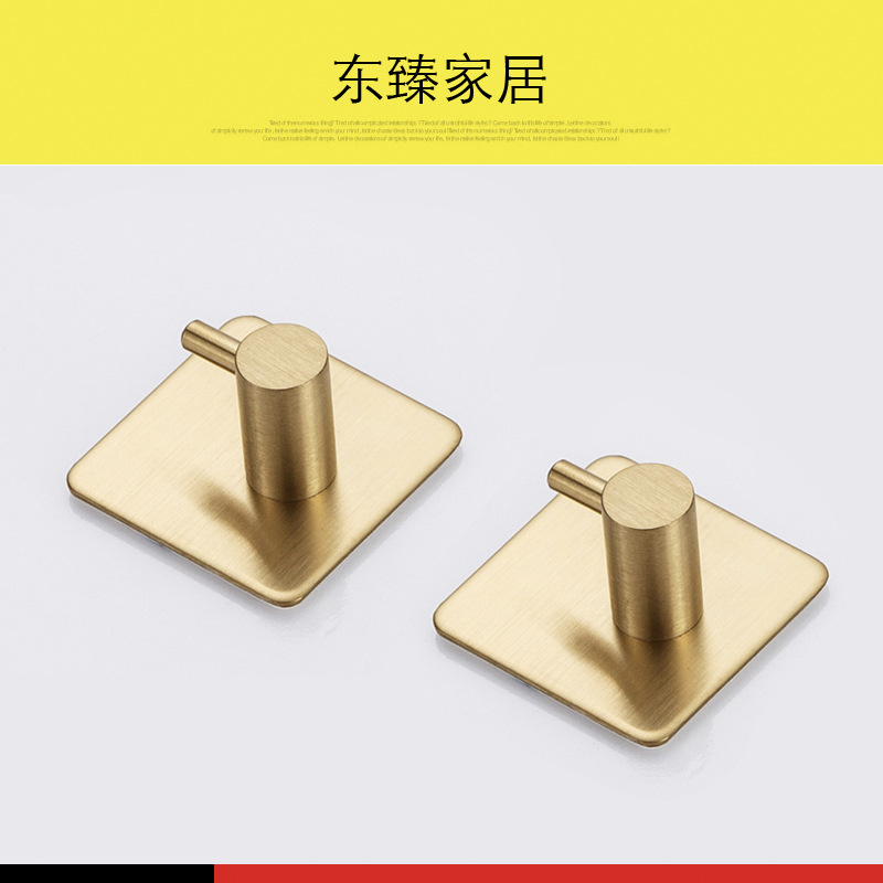 Gold Plated Hook for Hanging Bathroom Things