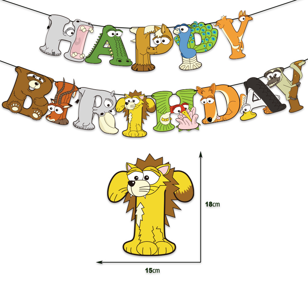 Adorable Printed Party Decors for Children's Birthday Parties