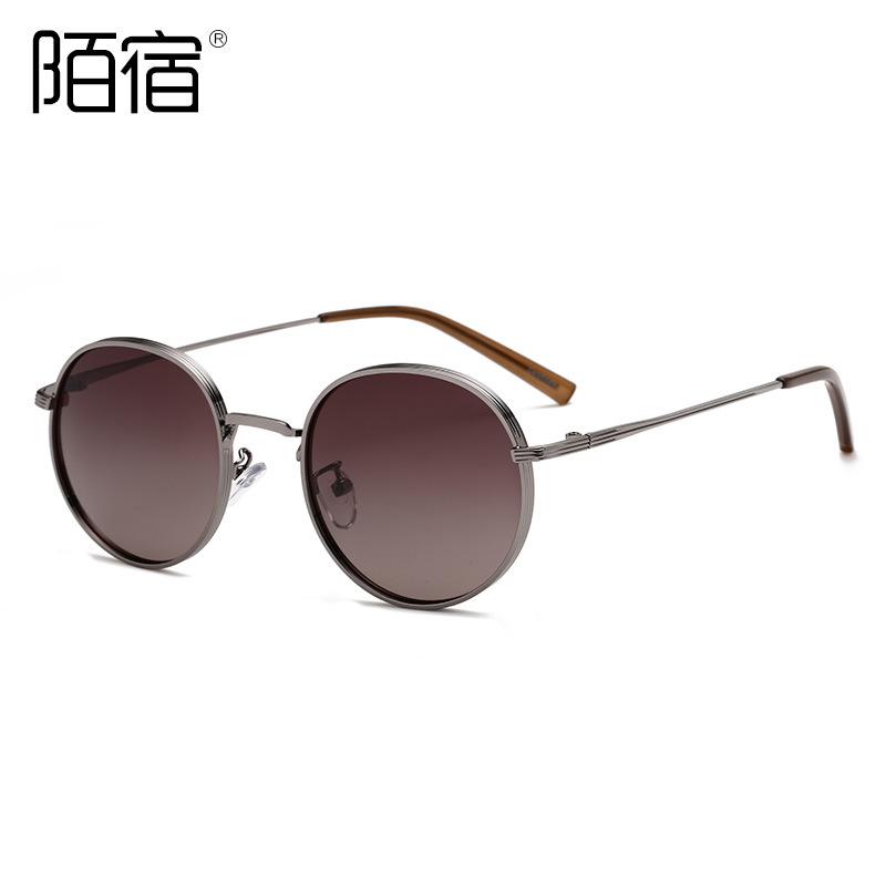 Stylish Two-Tone Polarized Sunglasses for Summer Wear