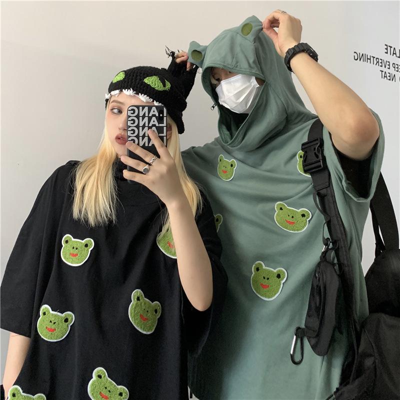 Cute Frog Hoodie Shirt for Urban Fashion