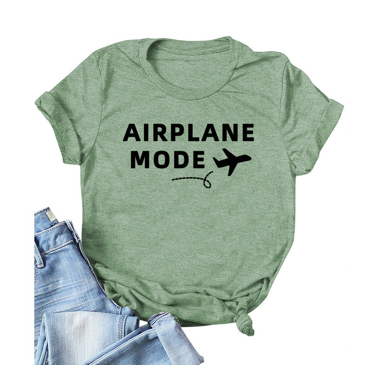 'Airplane Mode' Colored Shirt for Vacation Trip Outfits