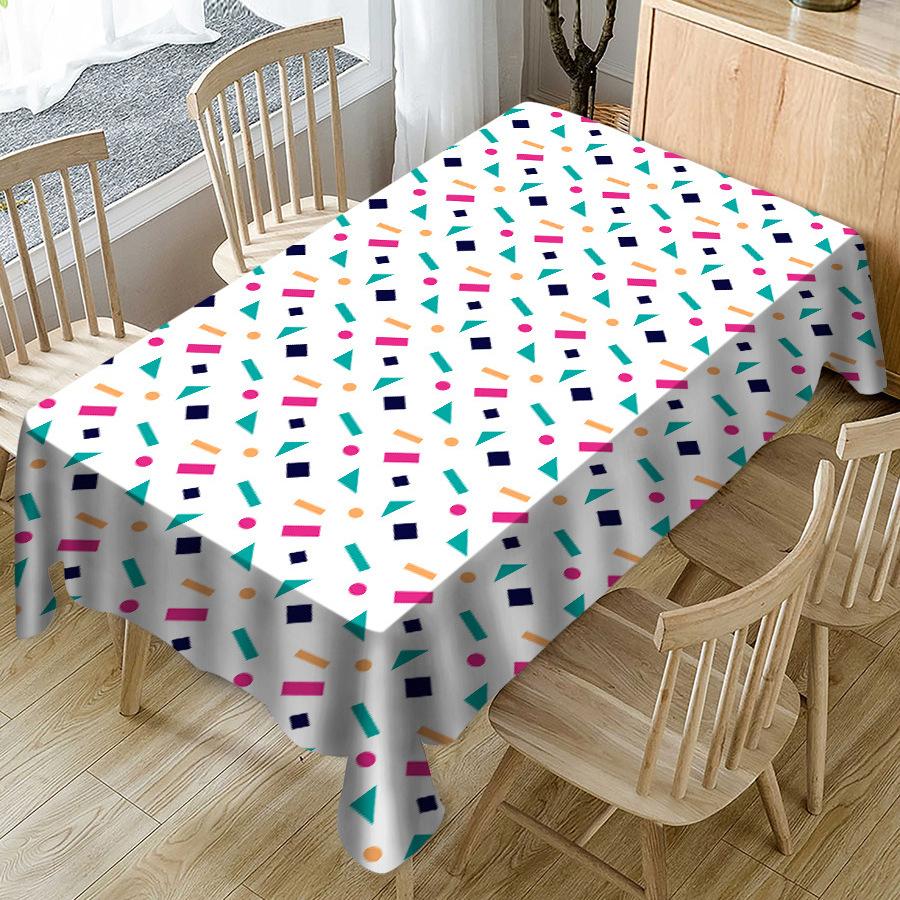 Refreshing Digital-Print Tablecloth for Fresh Family Gatherings