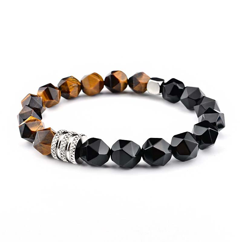 Cool Faceted Stone Bracelet for Any Occasion Wear