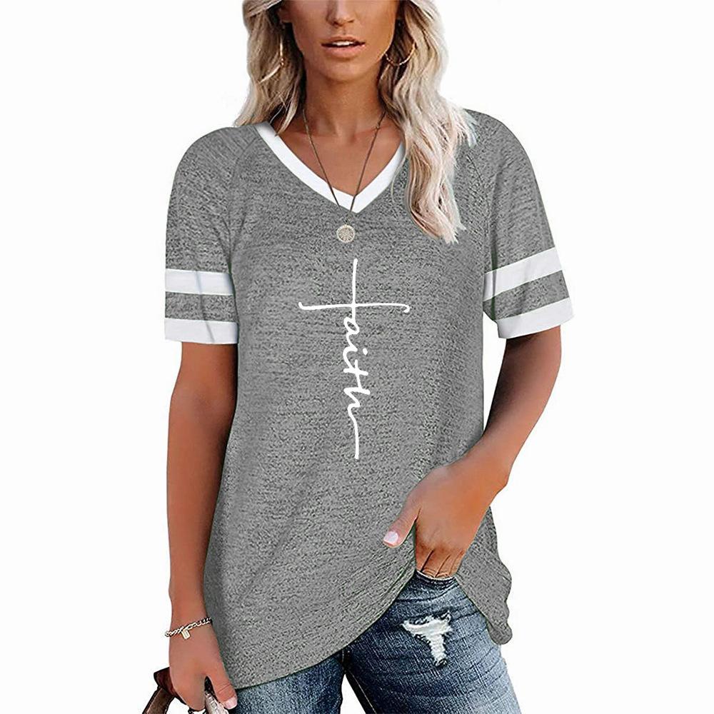 "Lovely ""Faith"" Cotton Banded Sleeve Shirt for Everyday Wear"