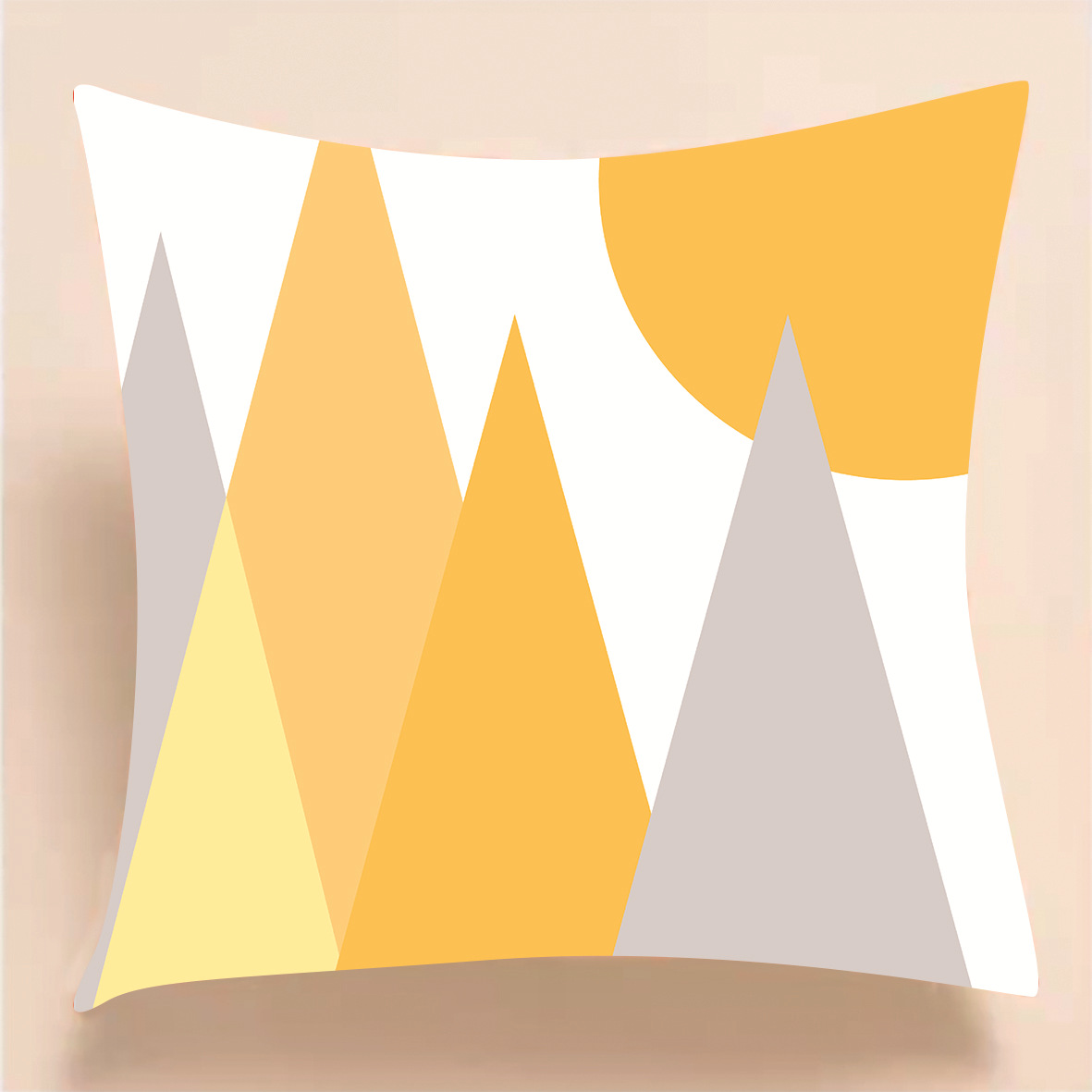 Geometric Style with Message Print Pillowcase for Inspiring Design