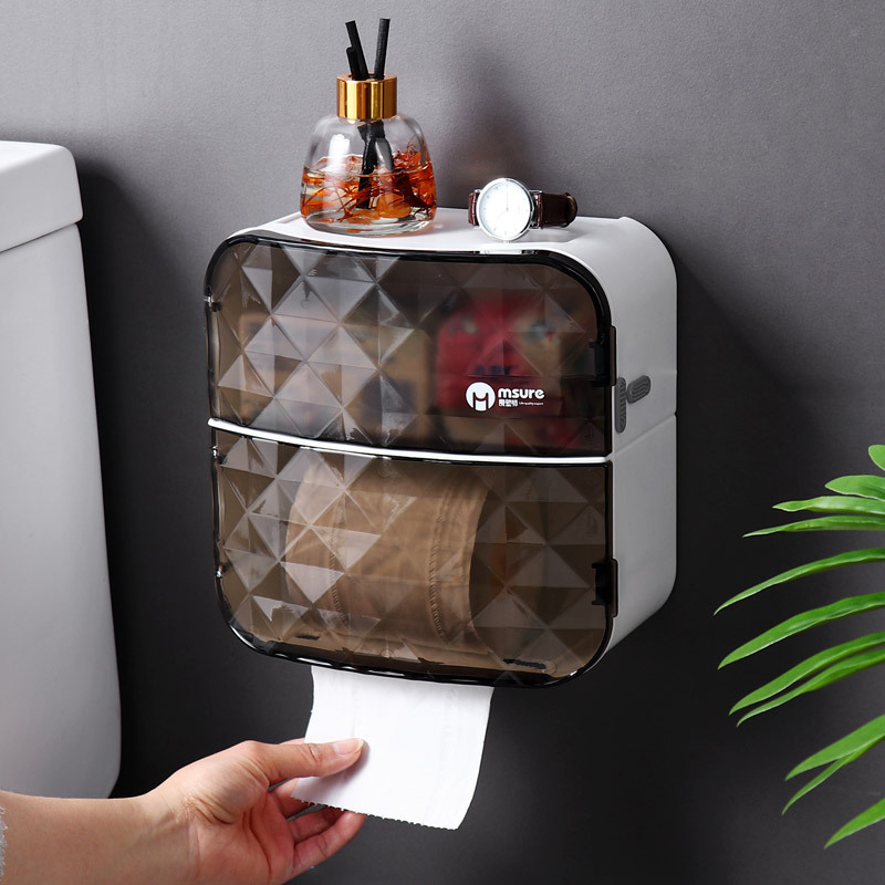 Wall Hanging Multifunctional Tissue Box Cover for House Decor
