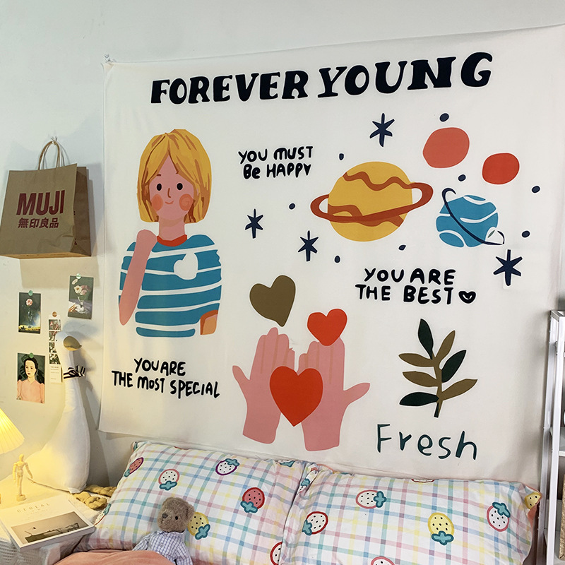 Adorable Inspirational Message Tapestry for Bedroom