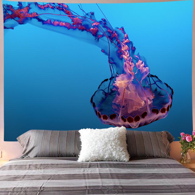 Enthralling Jellyfish-Print Wall Art Decor for Animal Lover Homes