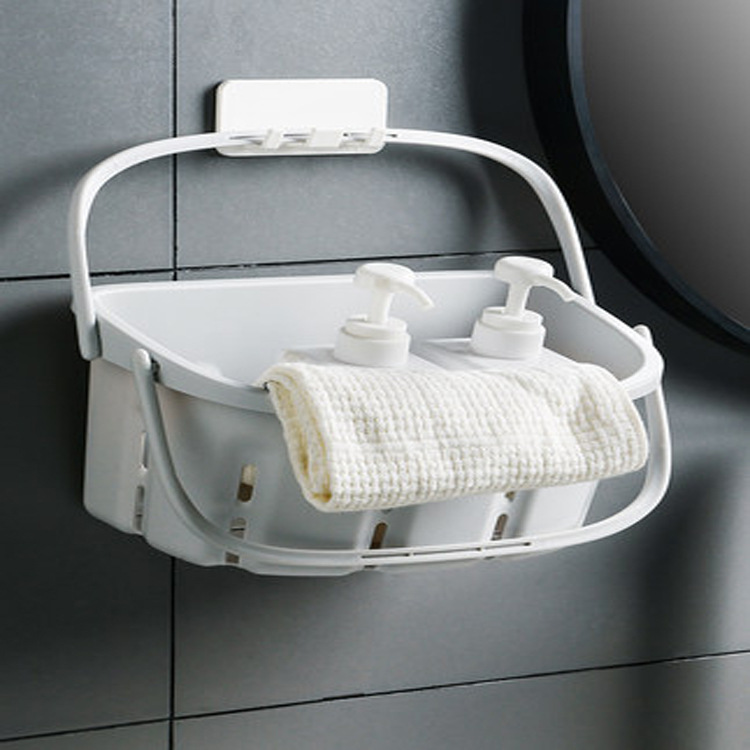 Hand Plastic Basket for Bathroom Dormitory Toiletry Basket
