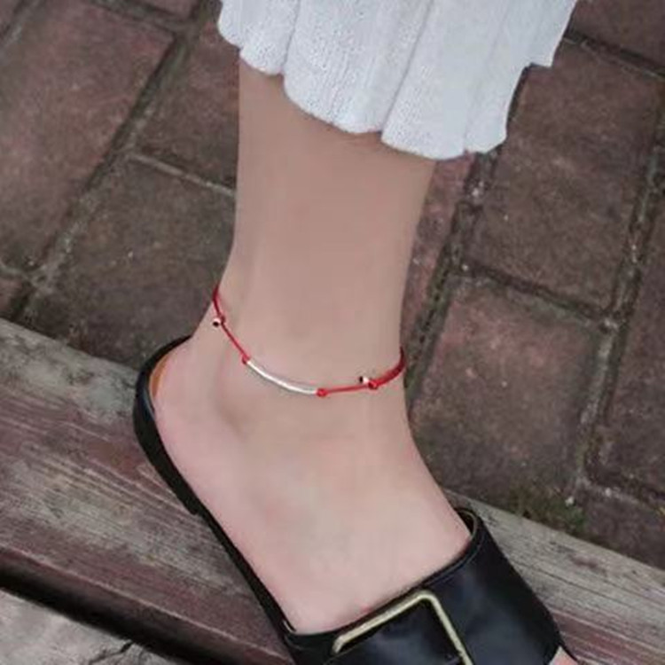 Simple Crystal Smiley Anklets for Matchy with Friends