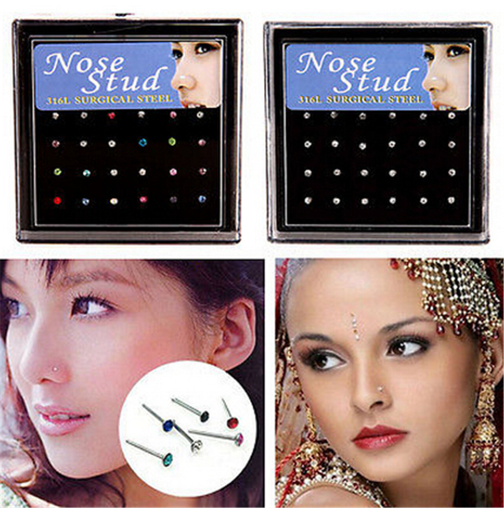 Small Stainless Steel Nose Stud for Street Fashion