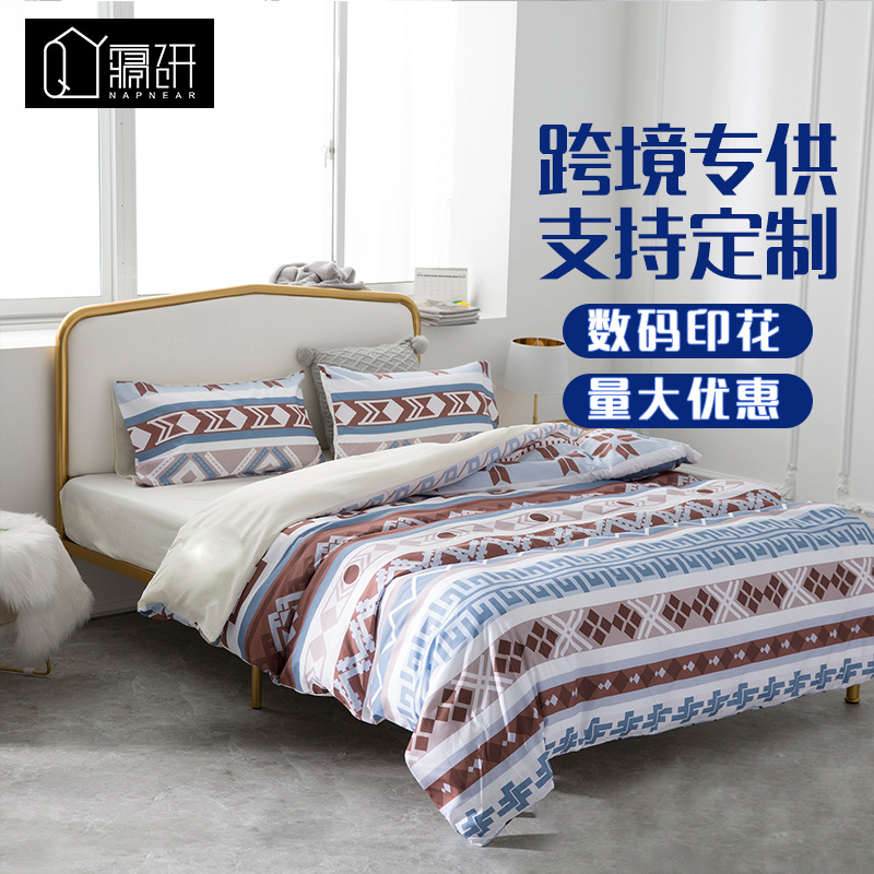 Creative Patterned Bed Sheet for Additional Room Decoration