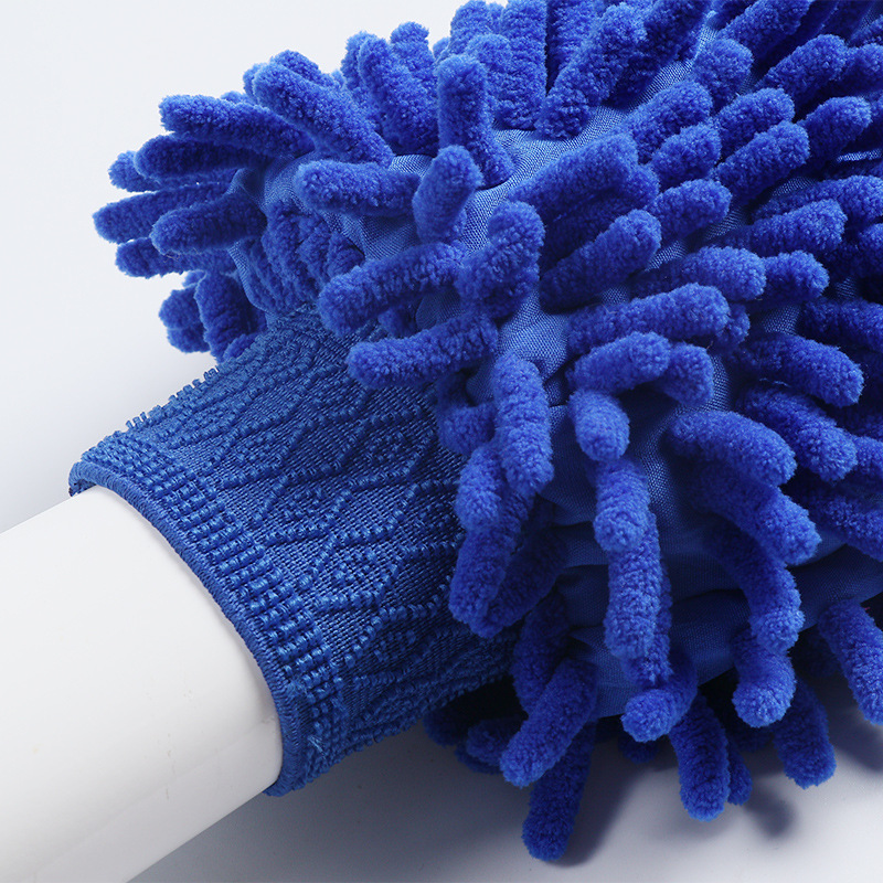 Double-Sided Solid Color Dusting Gloves for Cleaning the Car