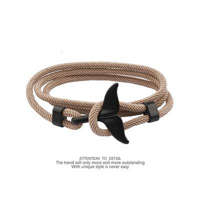 Unisex Korean Style Whale Tail Bracelet for Casual Fashion
