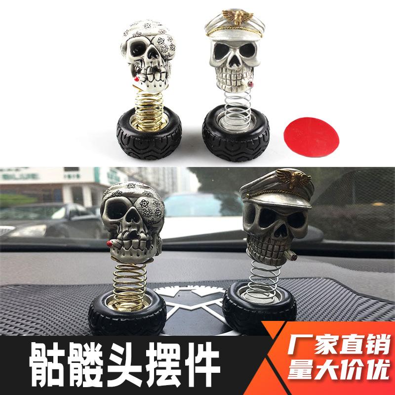 Skull Head Car Ornaments for Car Decorations