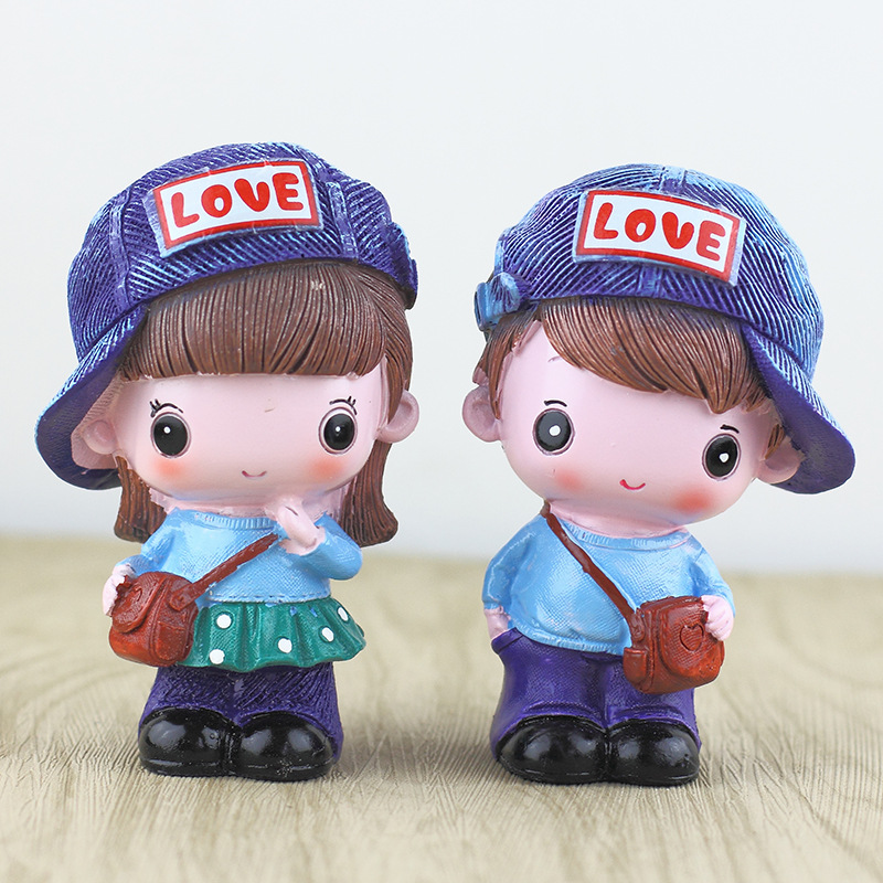 Lovely Couple Doll for Car Decoration