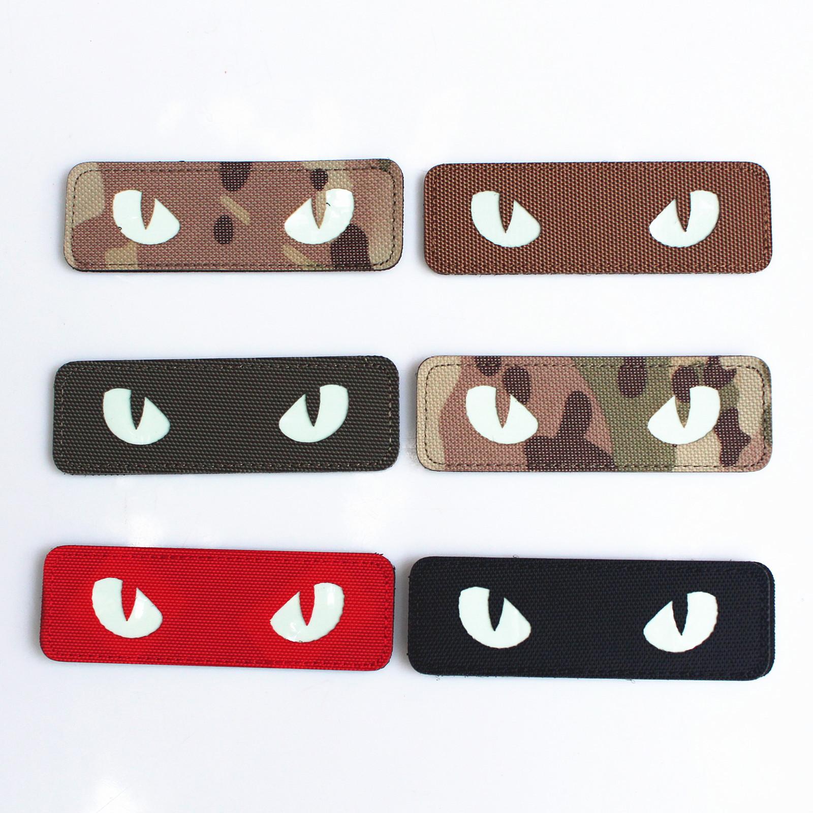 Luminous Velcro Cat's Eye Patch for Backpacks