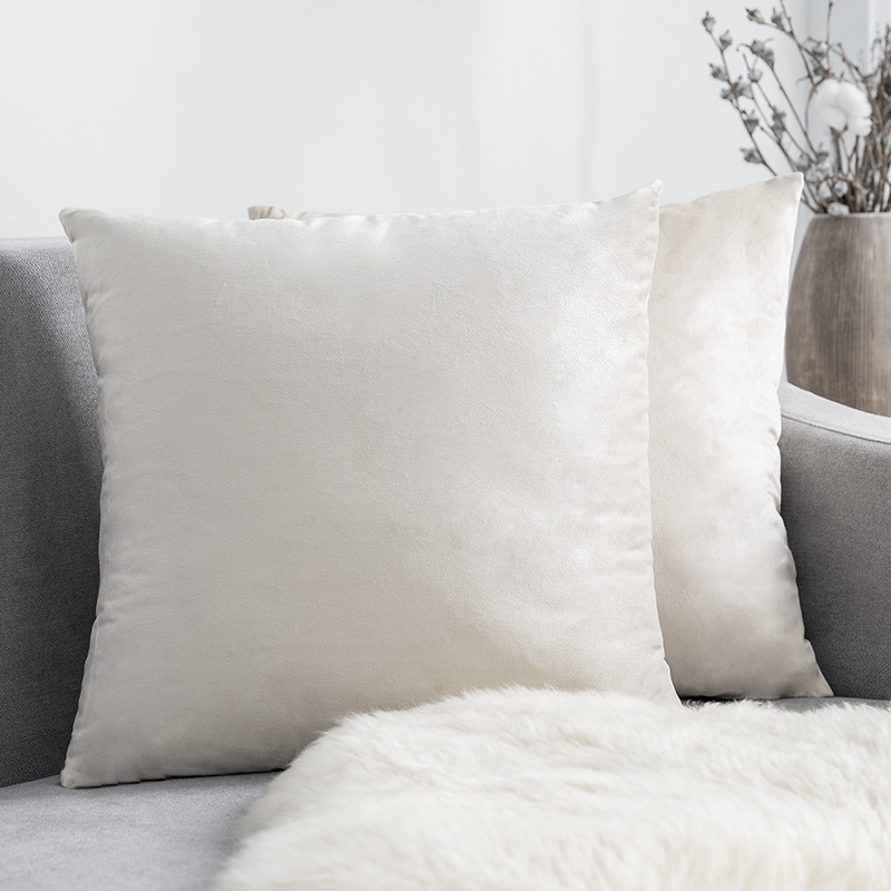 Smoothly Comfortable Velvet Pillow Case for Cozy Sofa Sets