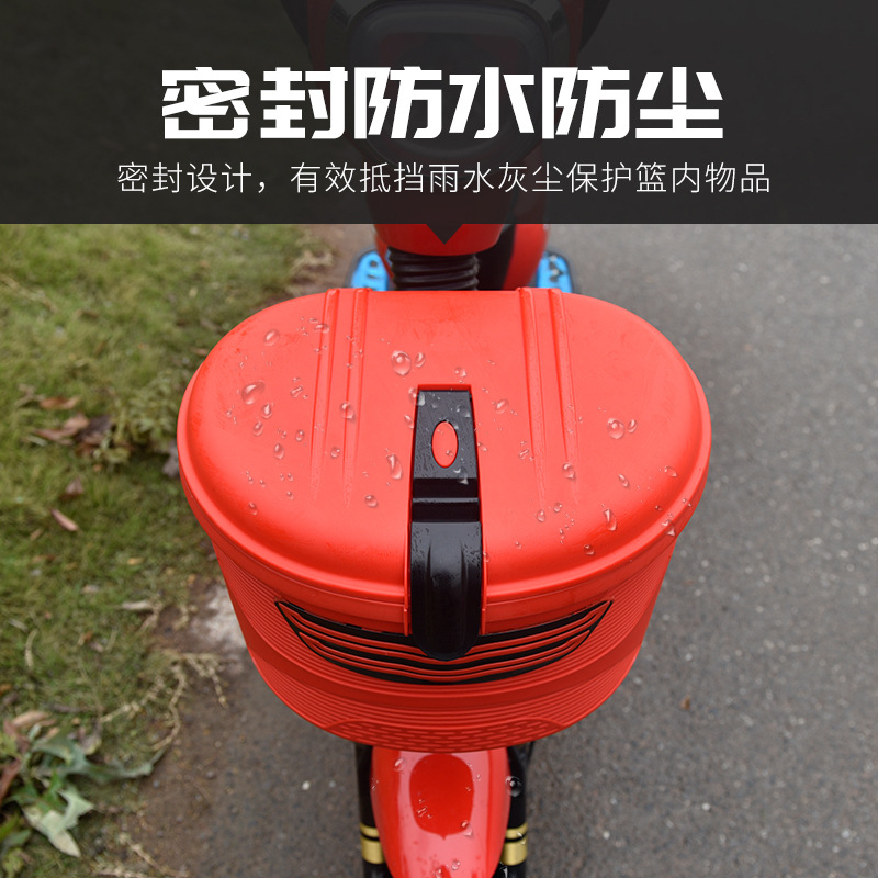 Waterproof Anti-Theft Basket for Attaching to Bicycles